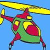 Coloriage hélicoptère air jeu