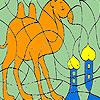 Seul chameau dans le désert Coloriage jeu