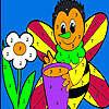 Seule abeille à colorier jeu