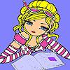 Ann à la coloration de la bibliothèque jeu