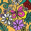Coloriage jardin fleurs assorties jeu