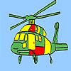 Coloriage hélicoptères Aviation jeu