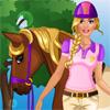 Barbie va monter à cheval jeu