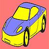 Coloriage voiture meilleure et rapide jeu