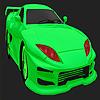 Coloriage de voiture verte meilleur concept jeu