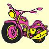 Coloriage grosse moto express jeu