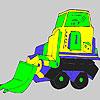 Coloriage de camion plus grand jeu