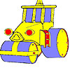 Coloriage de voiture de grande roue jeu