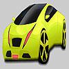 Coloriage grosse voiture vert pistache jeu