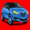 Coloriage de voiture de grand bleu concept jeu