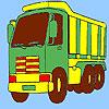 Coloriage de camion de transport de gros jeu