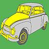 Coloriage grosse voiture classique historique jeu