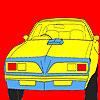Coloriage de voiture roue grand ouest jeu