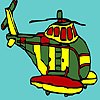 Coloriage gros hélicoptère militaire jeu