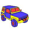 Coloriage jeep grand jungle jeu