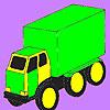 Coloriage voiture grosse cargaison jeu