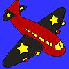 Coloriage avion ailes noires jeu