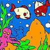 Poissons de mer bleue à colorier jeu