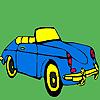 Coloriage voiture de première classe bleue jeu