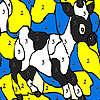 Noir tacheté coloriage de vache jeu