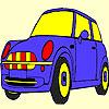 Coloriage voiture mignon bleu jeu