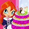 Gâteau de mariage fleur jeu