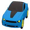 Coloriage de voiture de ville bleue jeu