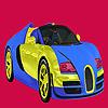 Coloration lumineuse de voiture bicolore jeu