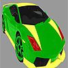 Coloriage voiture coloré brillant jeu