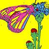 Papillon sur les orteils à colorier jeu