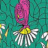 Papillons et marguerites Coloriage jeu