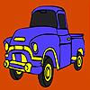 Coloriage de camion de bâtiment jeu