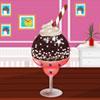 Décoration de crème glacée au chocolat jeu