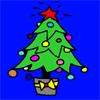 Coloriage arbre Christhmas jeu