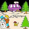 Nuit de Noël et chat à colorier jeu