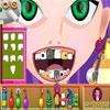 Charmante jeune femme au dentiste jeu
