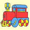Coloriage classique vagon rapide jeu