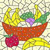 Coloriage panier de fruit classique jeu