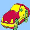 Coloriage de voiture concept style jeu