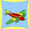 Coloriage avion côtières jeu