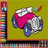 Livre de coloriage - voitures jeu