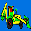 Coloriage de tracteur village coloré jeu