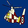 Coloriage de hélicoptère volant coloré jeu
