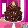 Gâteau au chocolat de couleur jeu