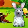 Garderie de lapin mignon jeu