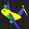 Coloriage avion personnalisé jeu