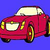 Coloriage voiture rouge foncé jeu