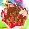 Délicieux invincible chocolat crème glacée aux fraises jeu