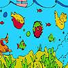 Les poissons de haute mer et les algues à colorier jeu