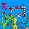 Poissons de l'océan profond et hippocampe Coloriage jeu